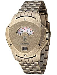 DETOMASO Herren-Armbanduhr Compasso Antique Gold Stainless Steel Analog Quarz DT2032-H