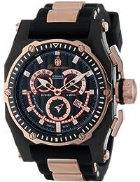 Burgmeister BM157-622A - Reloj analógico de cuarzo para hombre con correa de silicona, color negro