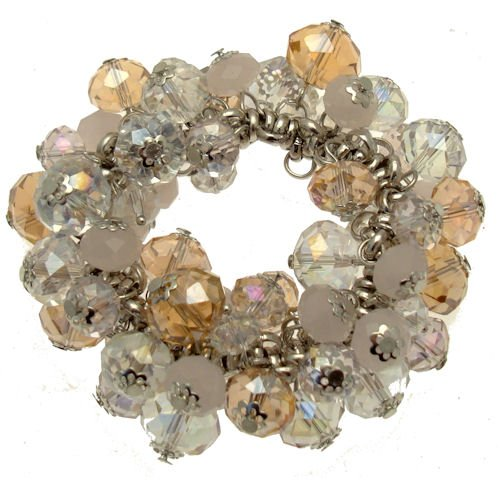 Acosta Jewellery Rose AB, Clear & Rosa Opal Swarovski Kristall Perlen–Charm Armband (Stretch Design) (Kostüm Schmuck Armbänder Uk)