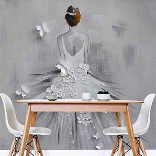 Tapeten Wallpaper Personalisierte Mode Hochzeit Kostüme Abstrakte Kunst Ölgemälde 3D Benutzerdefinierte Wandbilder für Hochzeit Shop Hintergrundwand, E