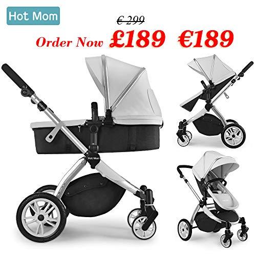 Hot Mom Multi cochecito cochecito 2 en 1 con buggy 2020 nuevo diseño, Asiento para bebé...