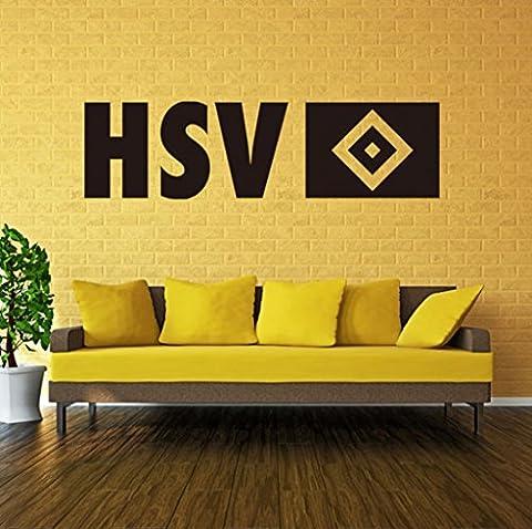 """Aoligei Aufkleber Murals Fußball Englisch """"HSV"""" Wohnzimmer Schlafzimmer Hintergrund Wandaufkleber PVC Wasserdicht 92 * (Englisch Wünsche Für Weihnachten)"""