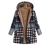 SEWORLD Mantel Sweatshirt Strickjacke Damen Langarm Warmer Freizeit Sport Große Größe Dicke Mäntel Reißverschluss Mantel mit Kapuze Pullover(W4-schwarz,EU-40/CN-L)