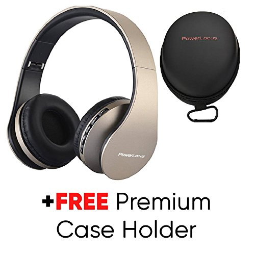 Cuffie Bluetooth PowerLocus Senza Fili Over-Ear Cuffie Stereo Pieghevoli  Auricolari 05b79651fe70