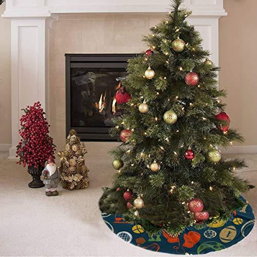 ZHANGhome Weihnachtsbaum Rock Nette Farbige Kreative Boxhandschuhe Drucken Künstliche Baum Rock Polyester Künstliche Baum Rock Teppich Für Party Urlaub Dekorationen Weihnachten Ornamente