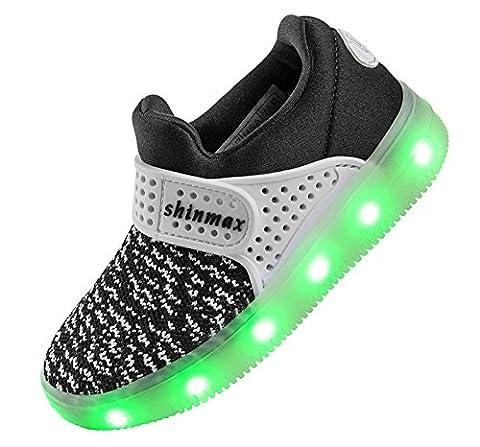 Shinmax Printemps-Été-Automne Respirante LED Chaussure 7 couleurs USB Rechargeable Chaussures