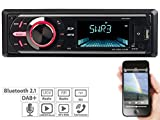 Creasono DAB Radio: MP3-Autoradio mit DAB+, Bluetooth, Freisprecher, USB & SD, 4X 50 Watt (Digitales Autoradio)