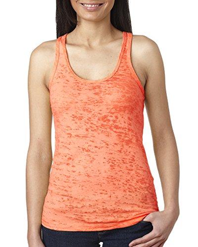 Next Level - T-shirt de sport - Femme Orange - Orange fluo