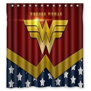152,4x 182,9cm Rideau de douche Wonder Woman Wonder Woman 152,4x 182,9cm en tissu imperméable rideau de douche pour salle de bain