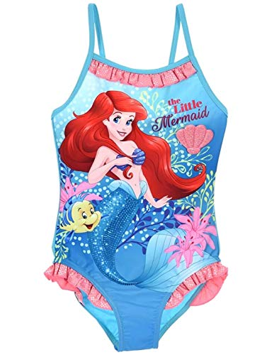Ariel la petite sirène Mädchen Badeanzug Gr. 3 Jahre, blau (Ariel Badeanzug)
