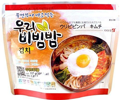 MRE Meals Ready to Eat 1 Pack of Bibimbap Korean Mixed Rice Bowl100g (3.53oz) 335 Kcal (Kimchi)