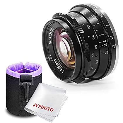 7artisans 35mm F1.2 Lente de Aluminio APS-C para cámara sin Espejo M4/3 Olympus Epm1 Epm2 E-PL1 E-PL2 E-PL3 E-PL5 E-PL6 E-PL7 E-PL8 E-P1 E-P2 E-P3 E-P5 E-P6