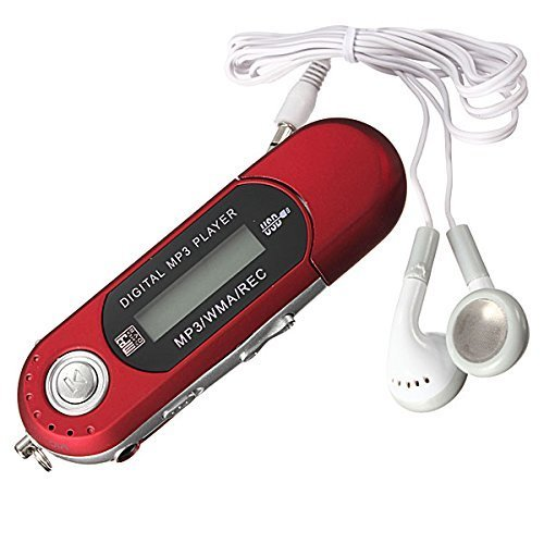 TOOGOO(R) 8G USB Flash Drive Reproductor de MP3 FM Walkman rojo
