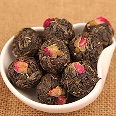 Tisane à la rose 500g (1.1LB) Thé puer chinois fait à la main Cru Pu vieux arbres à thé Nourriture saine Thé vert Thé chinois Thé Pu-erh
