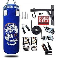 Onex valour Junior Toddler level MMA Training Blue Punch Bag Free standing 4oz Gloves Set