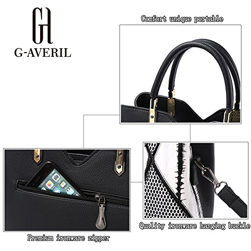 G-AVERIL, Borsa a mano donna Viola Purple Black