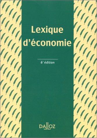 Lexique d'économie, 6e édition