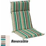 Papillon 8097045 - Cojín para sillón, 119 x 52 x 5cm, con rayas desenfundable