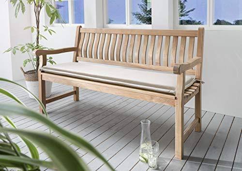 Bankpolster Destiny 180 cm * Natur * Kissen Auflage für Gartenbank Bank Polster Neu