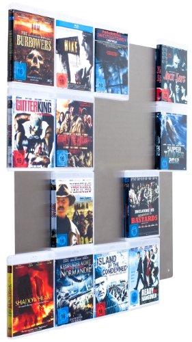 Design Blu-ray-Wand / Blu-ray Wanddisplay /Blu-ray Wandregal / Blu-ray Wandhalter / Blu-ray Halter - CD-Wall Square 5x4 für 20Blu-rays zur sichtbaren Präsentation Ihrer Lieblings Blu-ray Cover an der Wand