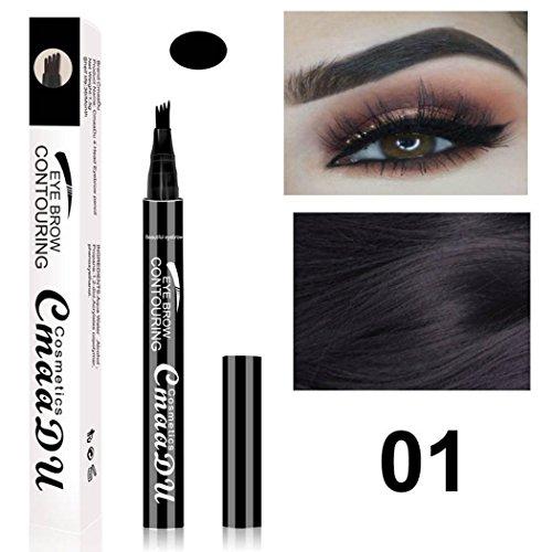 Uojack Neue Mode Make Up Kosmetische Natürliche langlebige Wasserdichte Augenbrauenstift Brauenstifte & -puder