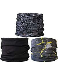 (3 Pack) Multifunctional Headwear. Neck Tubes (Ref R3).