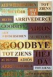 Abschiedskarte international Schrift kupfer