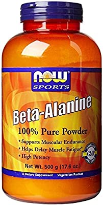 Beta Alanine, 2000mg (Powder) - 500g by NOW Foods mm