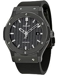 Automatisch Klassiker Fusion Kautschuk Carbon Schwarz Uhr Schwarz Faser Herren Zifferblatt