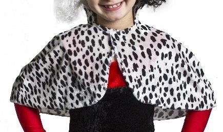 ILOVEFANCYDRESS Kinder BÖSE Dalmatiner Hunde Lady Umhang FÜR Kinder Umhang IST ERHALTBAR IN Verschiedenen STÜCKZAHLEN und Hat Einen Klettverschluss = 1 Umhang (Kostüm Pimp Hund)