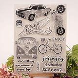 ECMQS Auto DIY Transparente Briefmarke, Silikon Stempel Set, Clear Stamps, Schneiden Schablonen, Bastelei Scrapbooking-Werkzeug