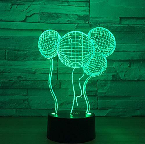 ZJFHL Neue Phantasie Geschenke Kreative Lächelnde 3d Leuchten Luftballons Led-leuchten Musik Nachtlichter Großhandel Kinder Lampe