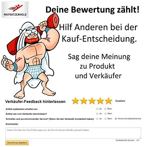 Matratzenheld 3D-Gelschaummatratze Herkules 100x200, medium - H2 bis 80 kg, ergonomische 7 Zonen Kaltschaummatratze Gelschaum RG50/ Kaltschaum RG40, Bezug waschbar 60° C, Allergiker geeignet, Made in Germany, H2 und H3 erhältlich - 7