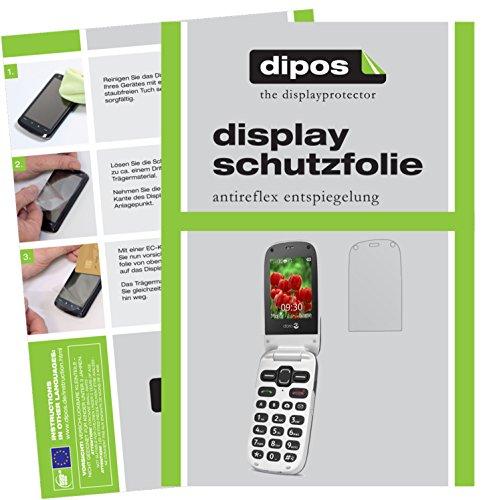 dipos I 6X Schutzfolie matt passend für Doro Secure 628 Folie Bildschirmschutzfolie