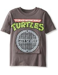 Freeze Childrens Teenage Mutant Ninja Turtles Flap T Shirt Grey