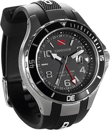 Cressi Manta y Traveller Dual Time - Reloj Submarino Profesional