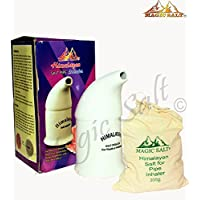 Preisvergleich für Salz Inhaler mit 100% reinen Kristalle Himalaya-Salz in 300 Grm Hochwertiges Porzellan Rohr