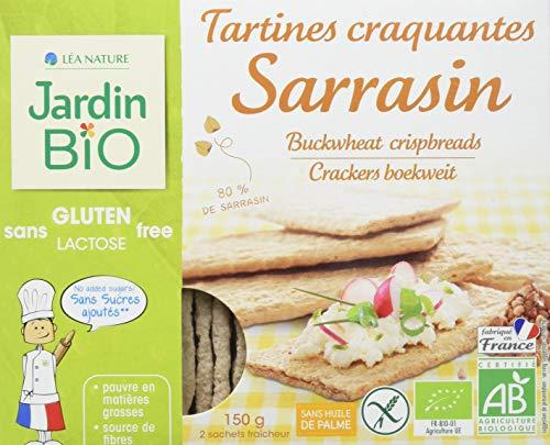 Jardin Bio Tartines Craquantes Sarrasin 80% de Sarrasin sans Gluten 150 g
