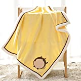 FYABB Baby Security Blanket, Neugeborenes Flannel Swaddling Wrap Sleep Sack for Girl or Boy 100 * 75CM,yellowmouse