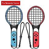 leegoal Racchette per Nintendo, Racchetta da Tennis per Mario Tennis Aces Nintendo Switch Joy-con Controller Twin Pack manopole per N-Switch Gioco: Tennis World Tour, Mario Tennis Aperto, ECC