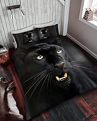Luxury 3D Print Black Panther Bedding Duvet Quilt Cover+Pillowcase Designs, All Size - inexpensive UK light store.
