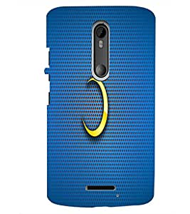 PrintDhaba Half Moon D-1833 Back Case Cover for MOTOROLA MOTO X3 (Multi-Coloured)