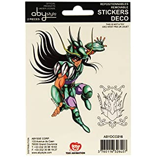 ABYstyle Studio Saint Seiya abydco216–2–Sticker–Pegasus/Shiryu–16x 11cm