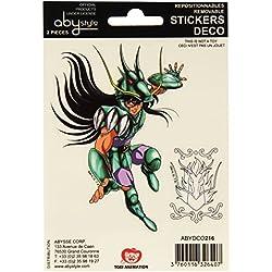 Abystyle - ABYDCO216 - Lote de 2 láminas adhesivas (16 x 11 cm), diseño de Los Caballeros del Zodiaco
