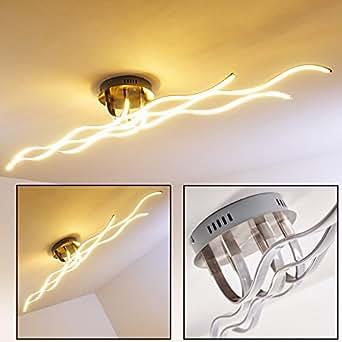 wellenf rmige designer leuchte aus metall f r das wohnzimmer deckenlampe f r moderne wohnr ume. Black Bedroom Furniture Sets. Home Design Ideas