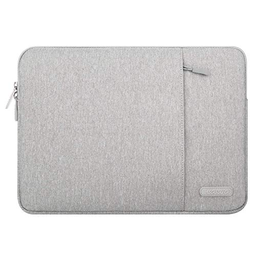 MOSISO Laptophülle Kompatibel 17-17,3 Zoll MacBook Pro, Thinkpad Chromebook Tablet Notebook, Polyester Wasserabweisend Vertikale Stil Sleeve Hülle Laptoptasche, Grau