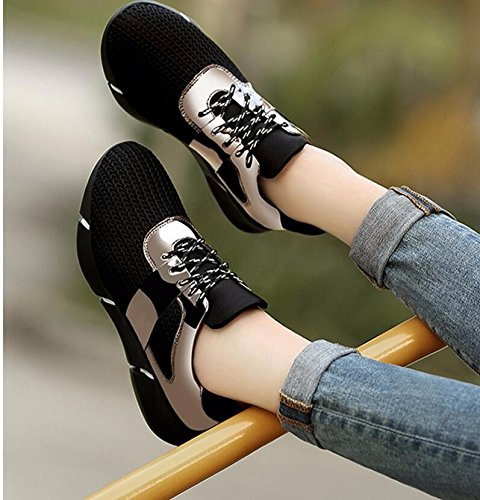 KHSKX-Nero Scarpe Di Tela Coreano Femminile Nuova Molla Piatta Scarpe Casual Scarpe Sportive Nero 41 Studenti. 37