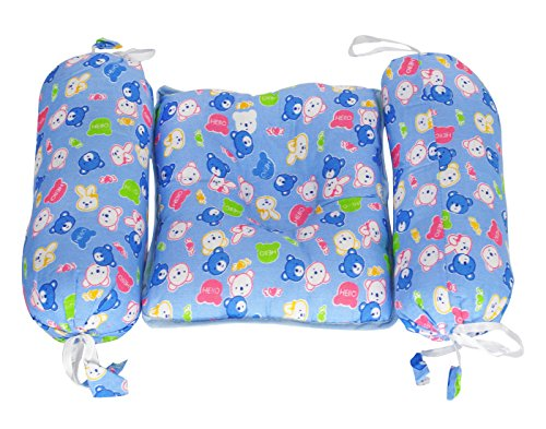Aarushi BABY BOLSTER AND PILLOW SET Blue
