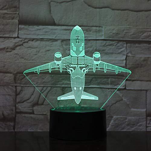 Modello di aereo da caccia Jingchuang creativo 3D luce notturna tocco aereo jet lampada LED scivolo lampada da comodino lampada fredda giocattolo 1 interruttore touch