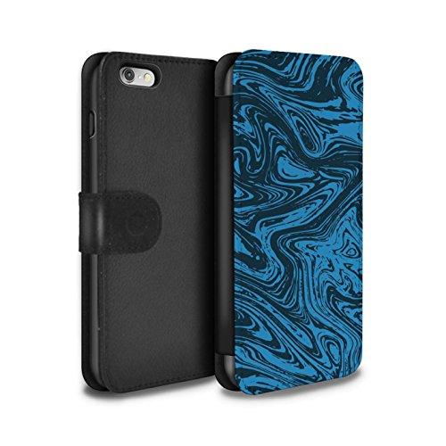 Stuff4 Coque/Etui/Housse Cuir PU Case/Cover pour Apple iPhone 6 / Pack 6pcs Design / Effet Métal Liquide Fondu Collection Bleu
